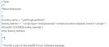 werd phpBBS code snippet